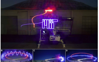 A visual record of the DCP toolpath can help improve perform, and create the MIT logo. Photo via Science Robotics.