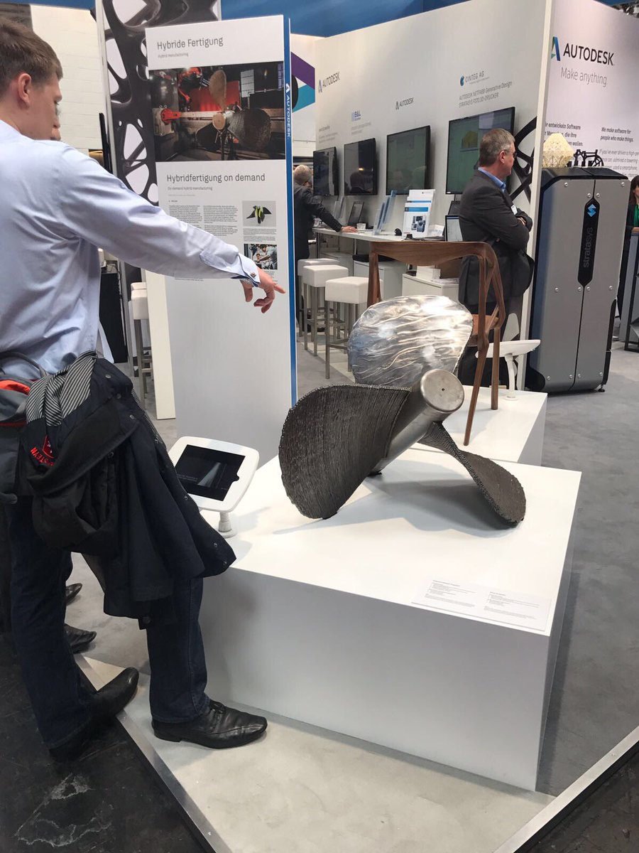 The propeller on show at Autodesk's exhibit at Hannover Messe. Photo via Autodesk.