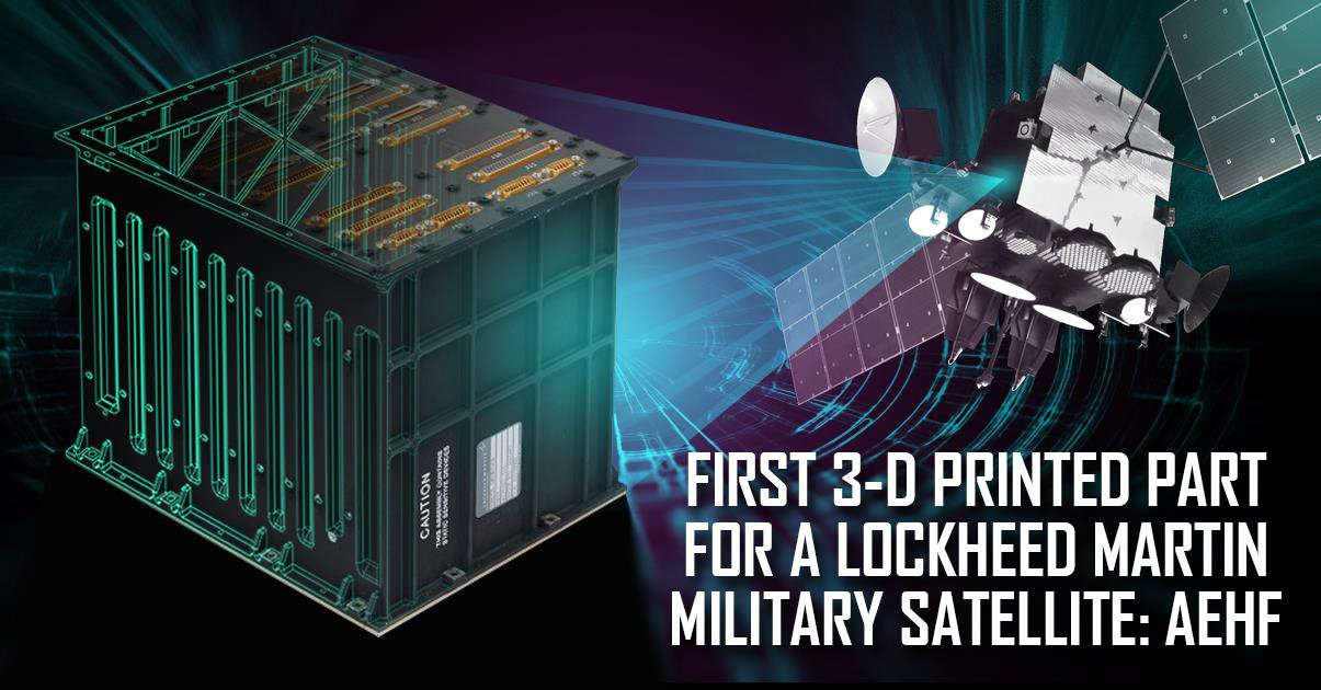 The 3D printed satellite part. Image via Lockheed Martin.