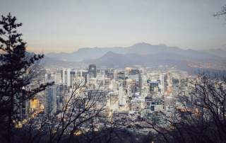 Central district district of South Korea's capital city Seoul, viewed from Mt. Namsan. Photo by zuk0 on Flickr