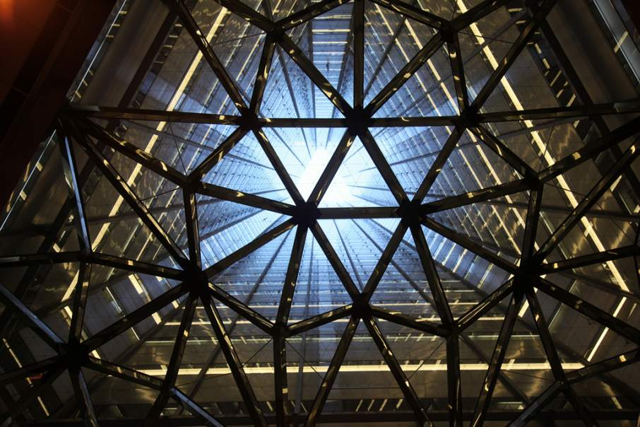 Looking up through the center of the Sumitomo Building in Tokyo's Shinjuku district. Photo by Chris Brown, zoonabar on Flickr.