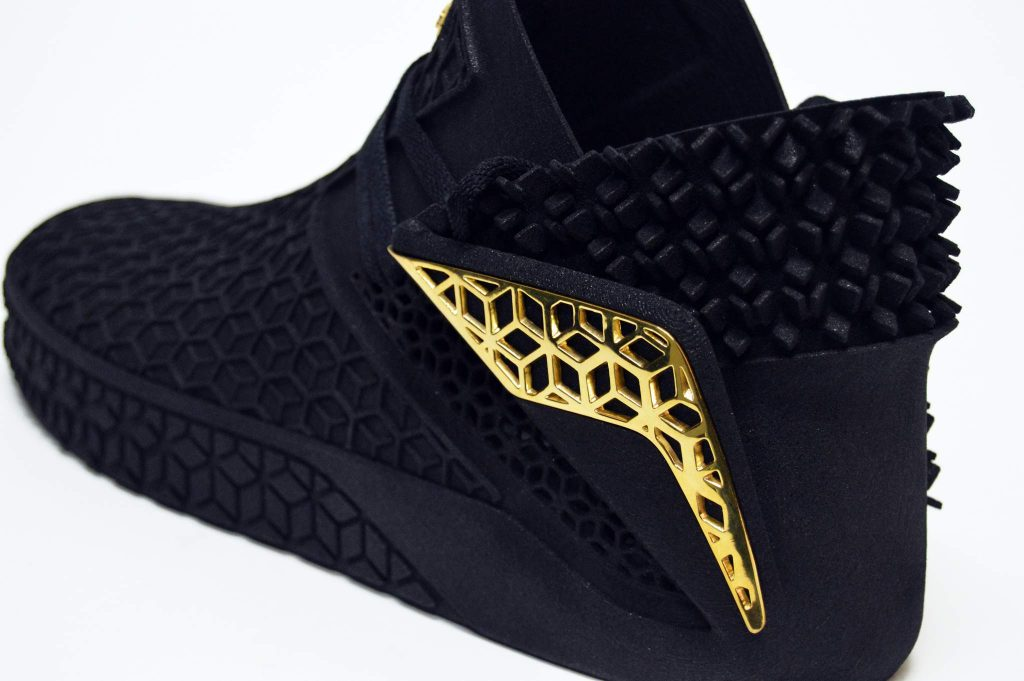 Detail on the 3D printed shoe from the Genesis project. Photo by Amadou ba Ndiaye.