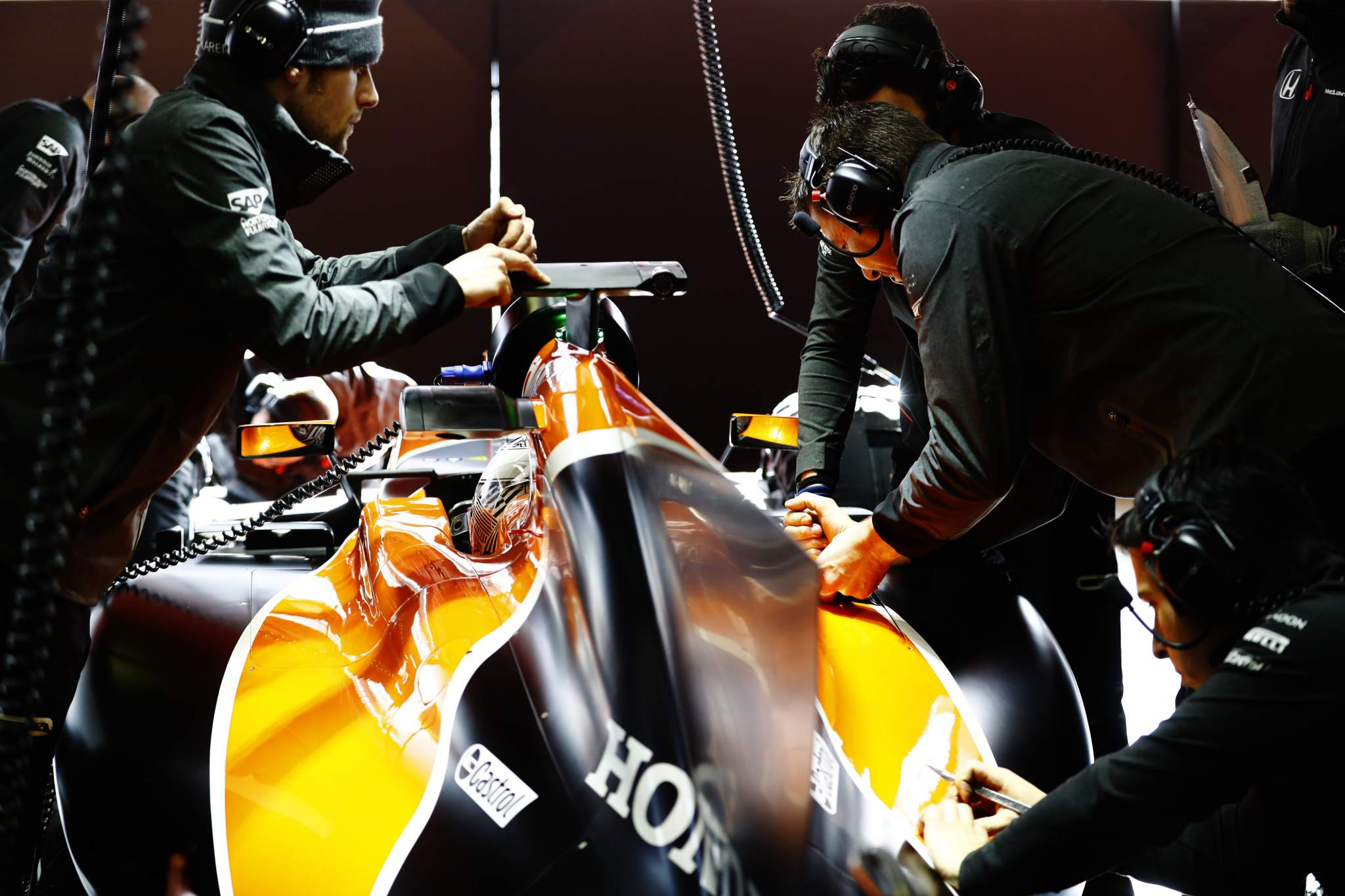F1 testing at the Circuit de Barcelona. Photo via Stratasys.