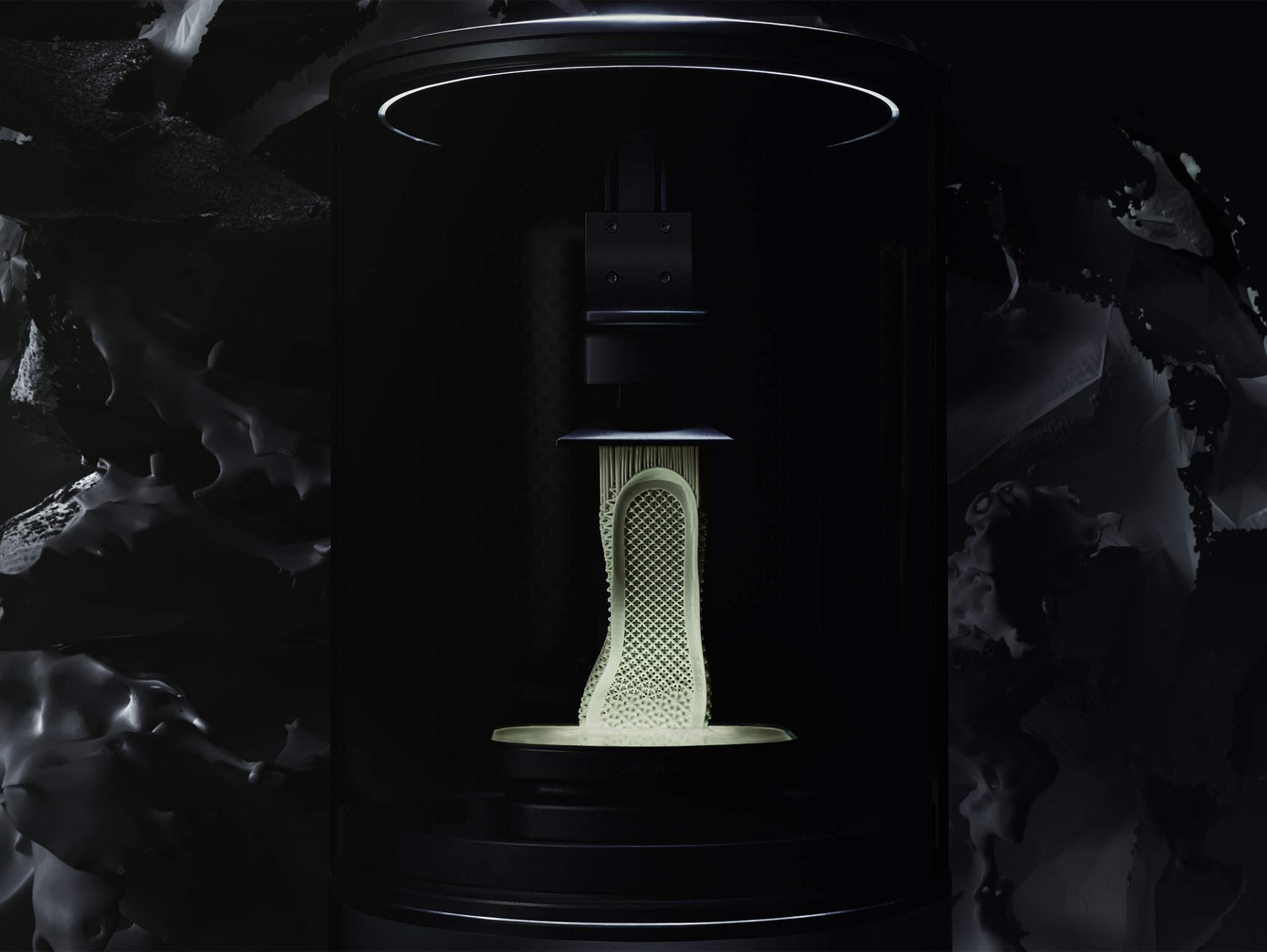 Futurecraft 4D 3D printing. Image via adidas.