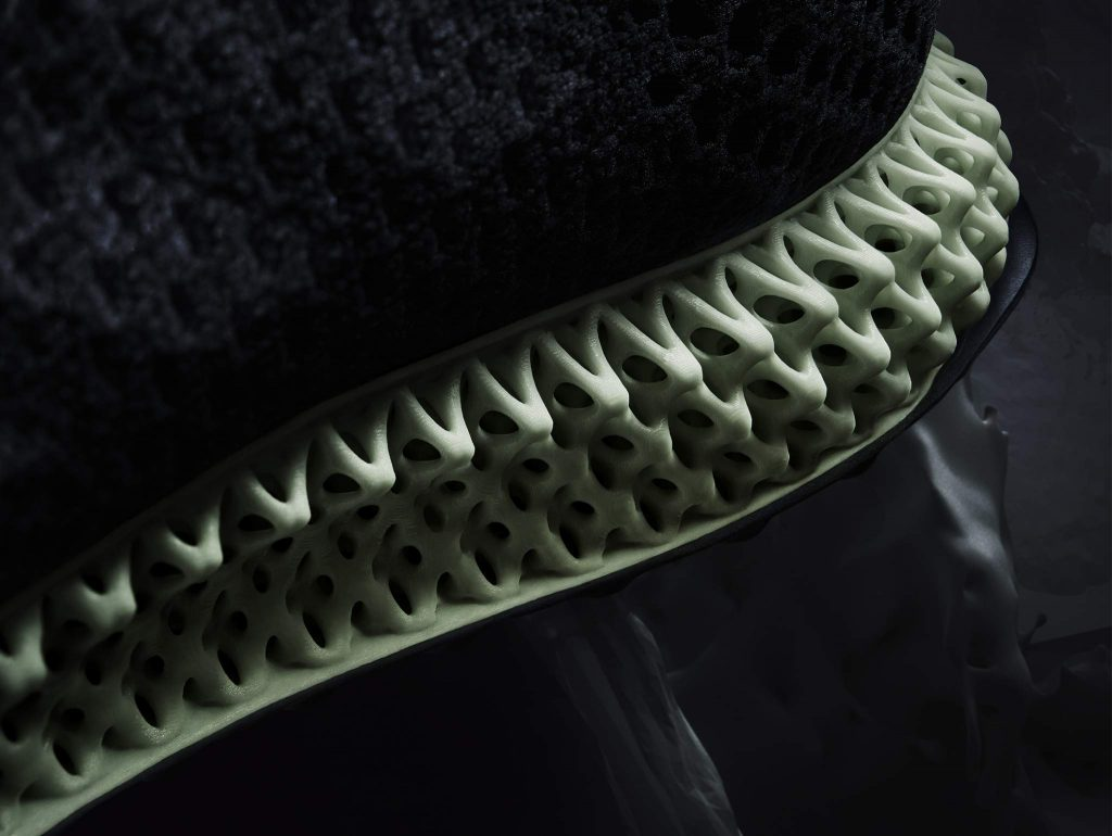 Futurecraft 4D sneaker midsole close up. Image via adidas.