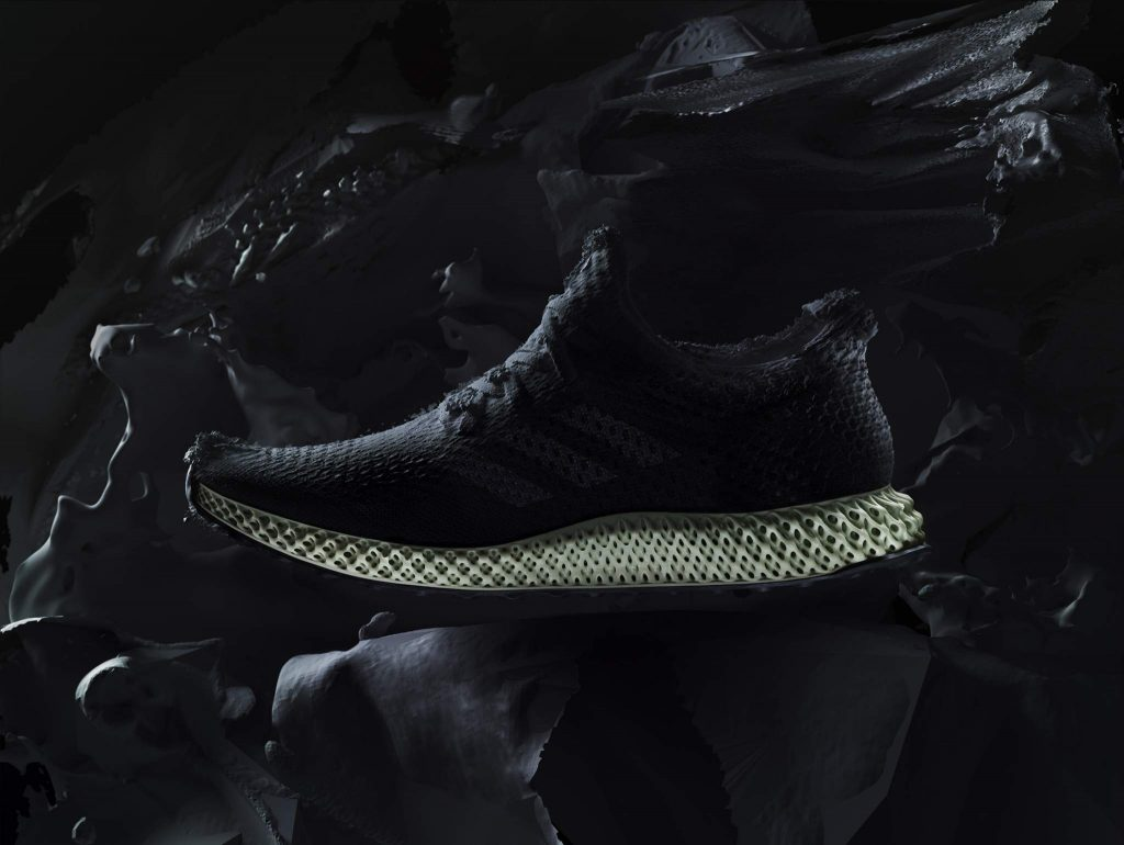The FUTURECRAFT 4D sneaker from adidas's with a 3D printed midsole from adidas's Speedcell concept.