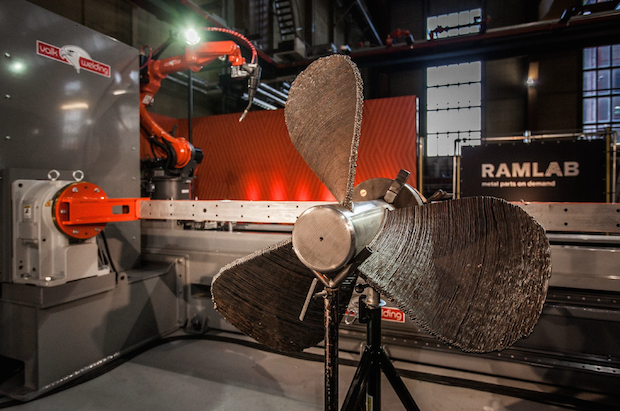 The propeller created by RAMLAB. Photo via Autodesk.