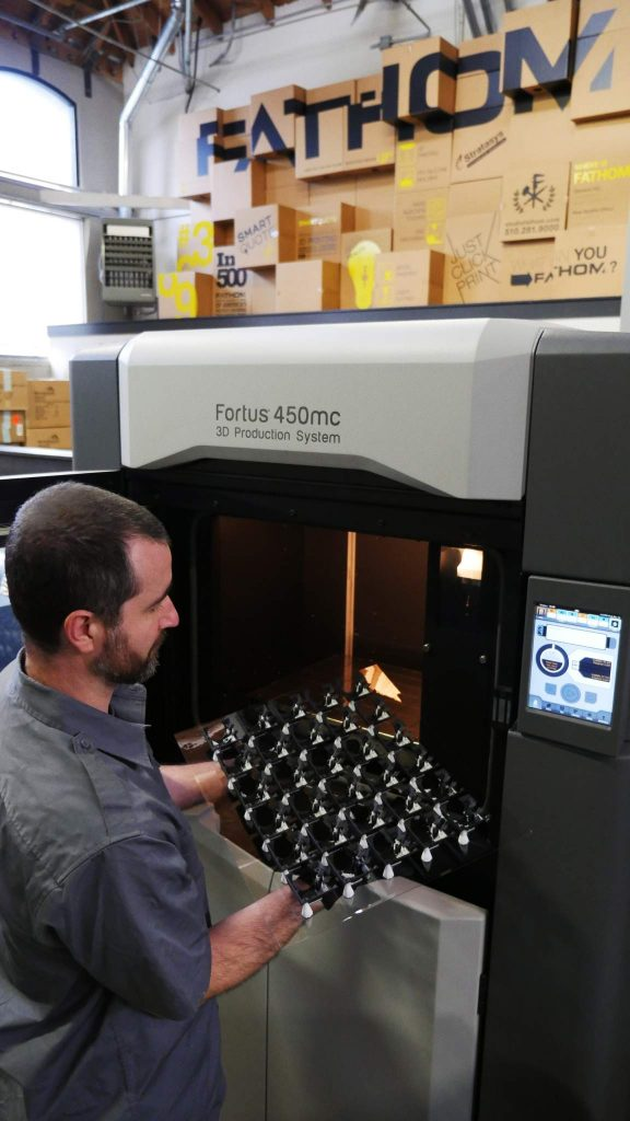 A Stratasys Fortus system at FATHOM's Oakland facility—direct digital manufacturing is a growing application need. Photo by FATHOM.