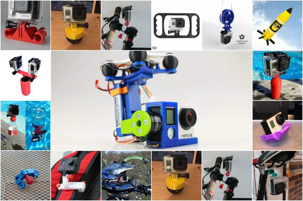 A selection of GoPro related 3D prints from MyMiniFactory.