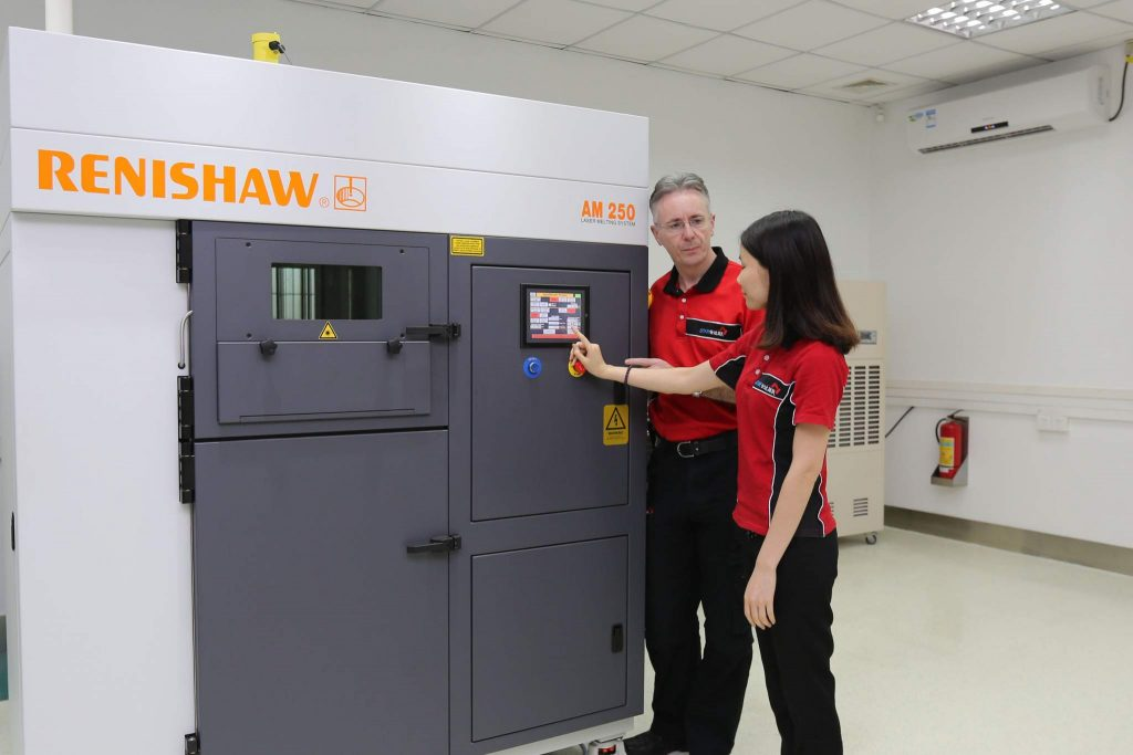 Gordon Styles, founder and president of Star Rapid, at the Renishaw AM250