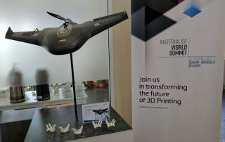 Materialise World Summit and UX5 HP Drone by Trimble. Photo by Michael Petch.