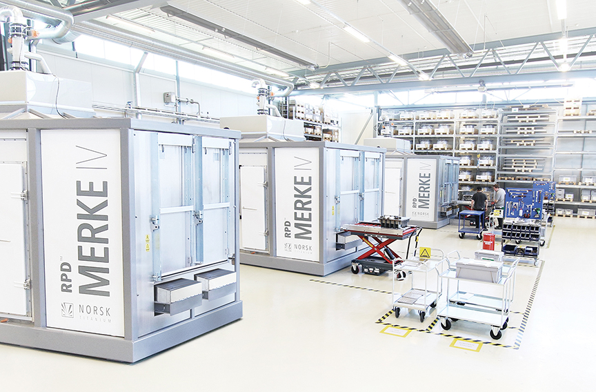 The Merke IV Rapid Plasma Deposition™ production floor. Photo via Norsk Titanium