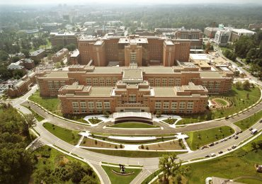 Aerial view of the National Institutes of Health Maryland Campus. Photo via the United States Department of Health and Human Services