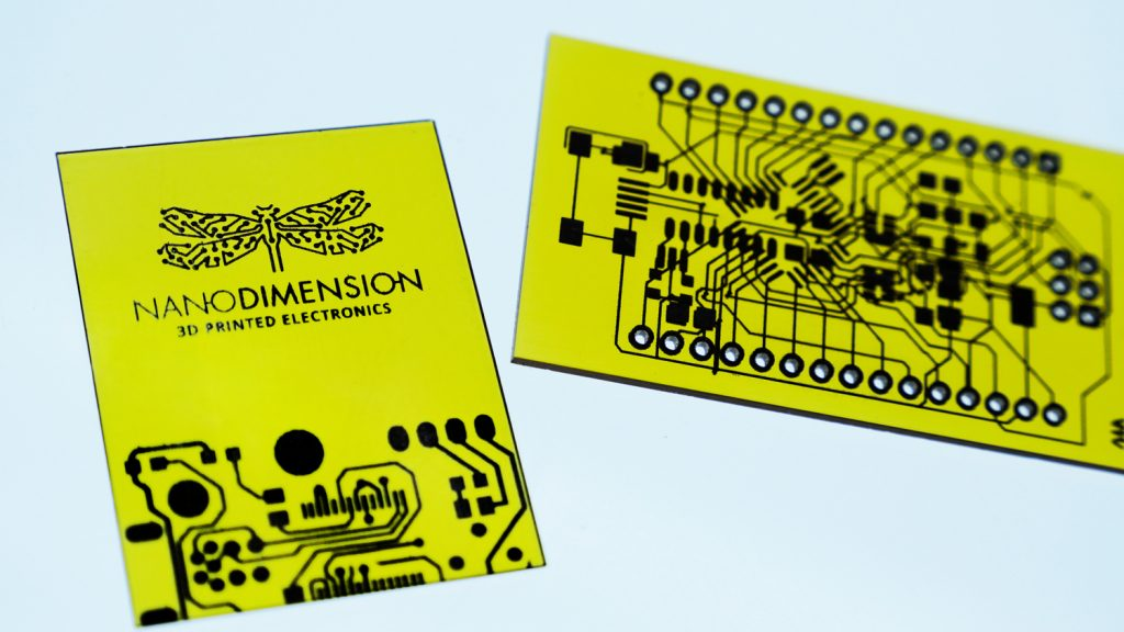 Nano Dimension 3D printed electronics. Photo via FATHOM.