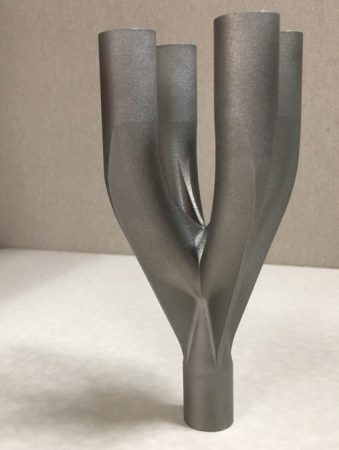 An example of a stainless steel 3D printed part. Photo via Canada Makes.
