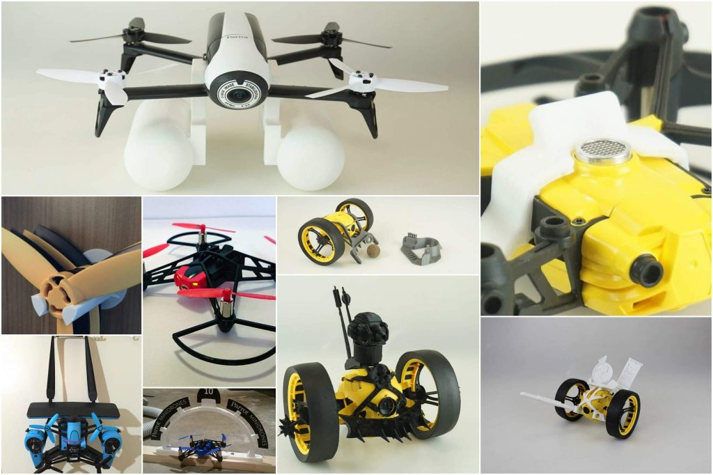 A selection of Parrot Drone related 3D prints from MyMiniFactory.
