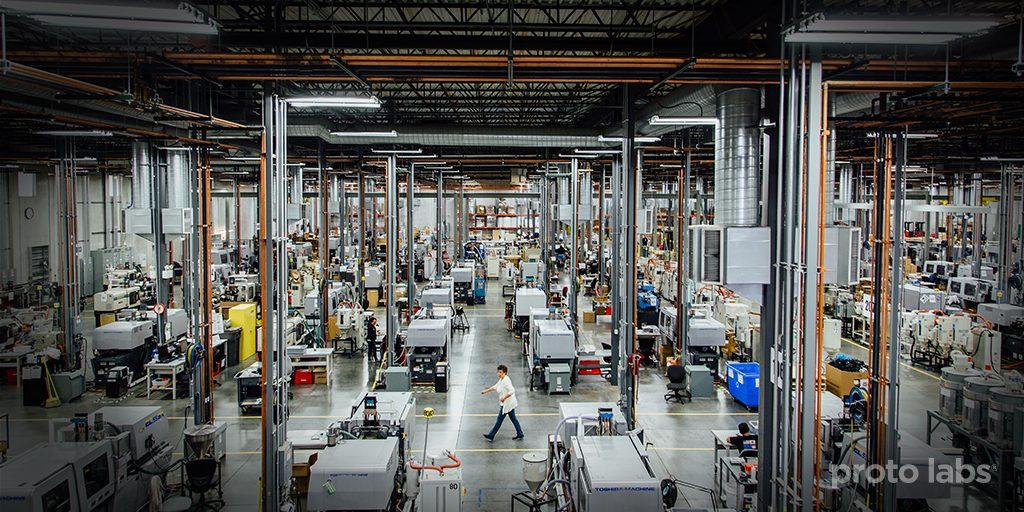 Proto Labs manufacturing facility. Image via Proto Labs.