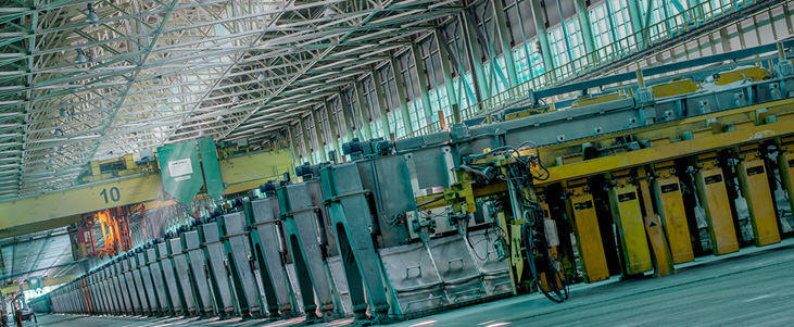 Inside one of RUSAL's facilities. Photo via rusal.ru