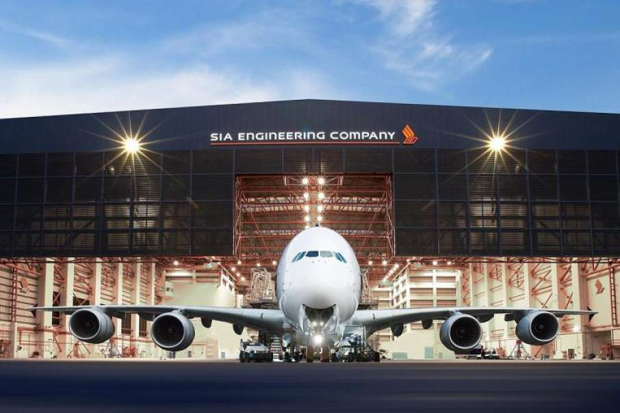 SIA Engineering Company airplane hangar. Photo via SIA Engineering Company