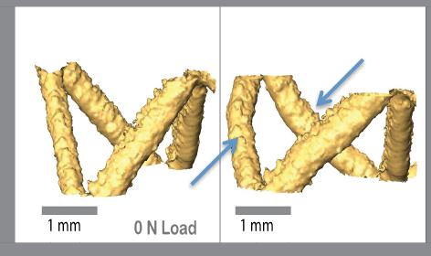 Buckling observed in octet-truss structures. Image via Carltona, Linda, Messnera, Volkoff-Shoemakera, Barnardb, Bartona & Kumara.