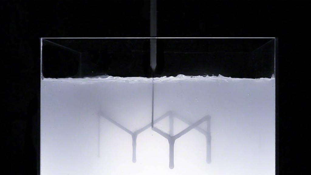 Rapid liquid printing in process. Photo via Steelcase/MIT