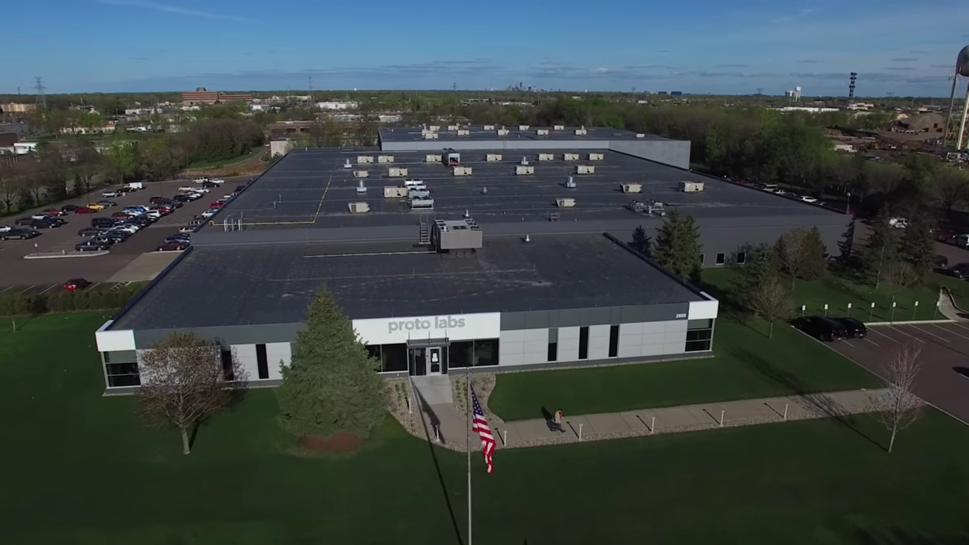 The Plymouth, Minnesota manufacturing facility. Screenshot via Proto Labs.