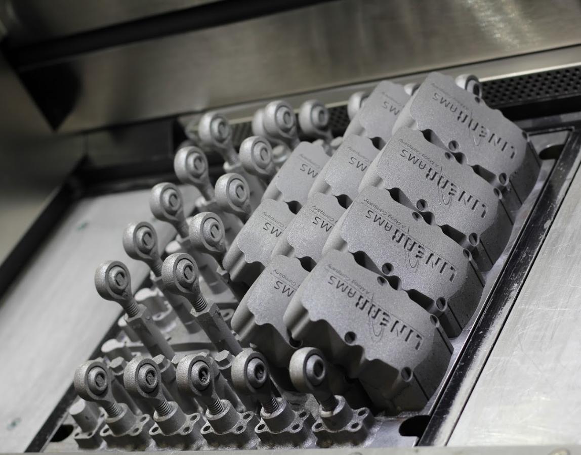 Metal additive manufacturing. Photo via Linear AMS.