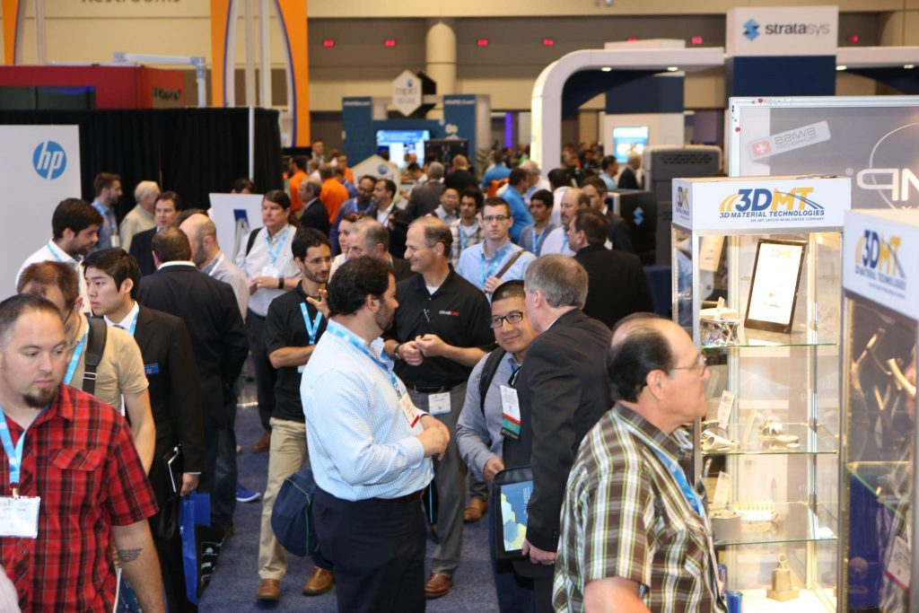 RAPID 2016 attendees exploring the show floor. Photo via SME.