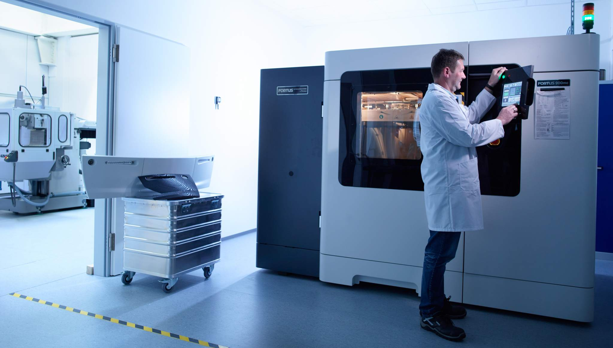 Siemens Mobility is using its Fortus 900mc Production 3D Printer and Stratasys synthetic materials to 3D print customized production parts for trams