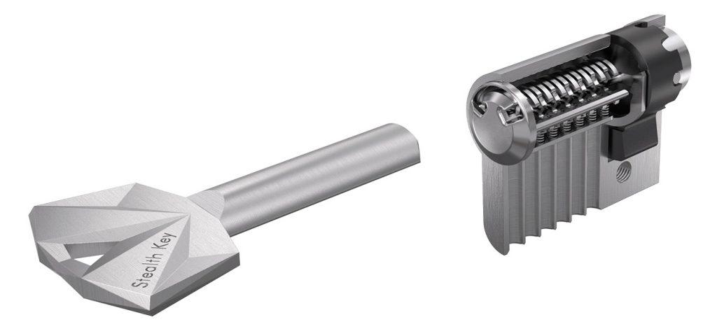 The 3D printed metal Stealth Key. Image via UrbanAlps
