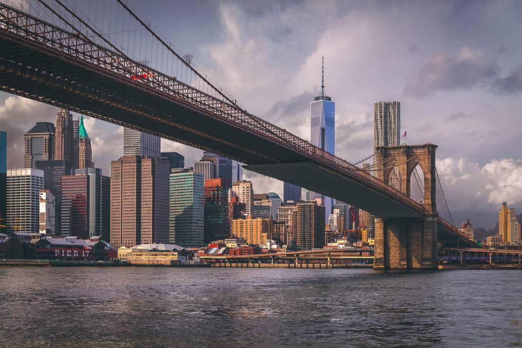 New York reigns supreme. The Brooklyn Bridge leading to New York City. Photo by Andrés Nieto Porras, anieto2k on flickr