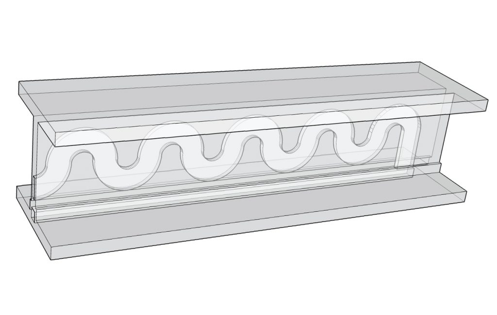 3D model of Cranfield's FFF 3D printable microfluidic device. Image via Matthew Partridge.