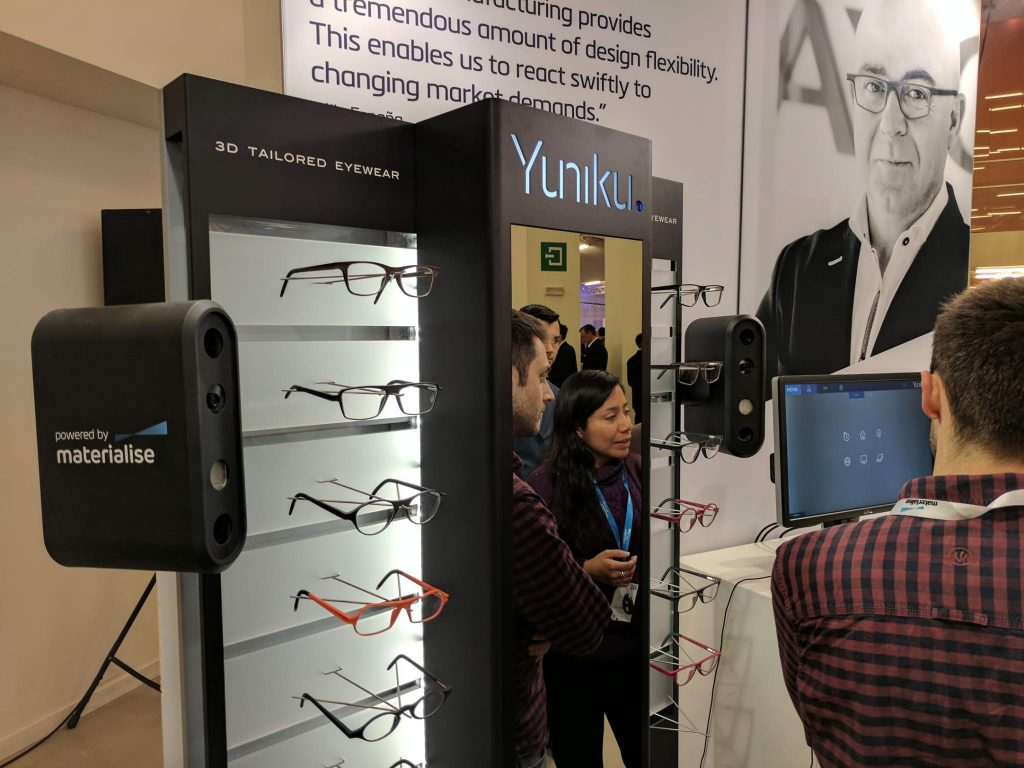 Yuniku is the Materialise and Hoya Vision Care partnership for 3D tailored eyewear. Photo by Michael Petch.