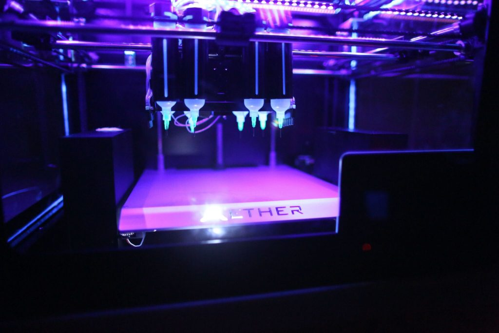 Aether UV curing 3D bioprinter. Photo via Aether.
