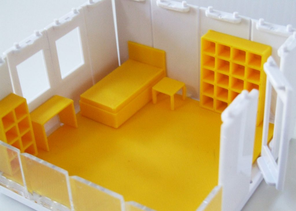 Arckit 3D printed furniture for a tween room. Photo by Tech Age Kids.