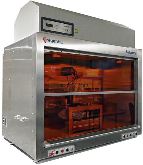 The BioFactory 3D bioprinter. Photo via regenHU