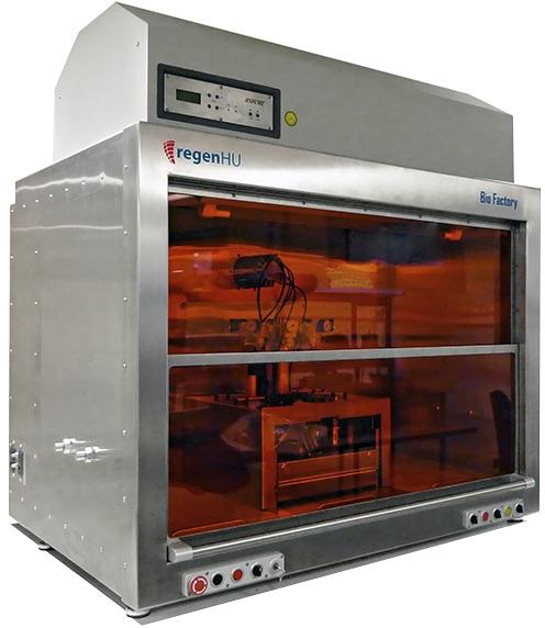 The BioFactory 3D bioprinter. Photo via regenHU
