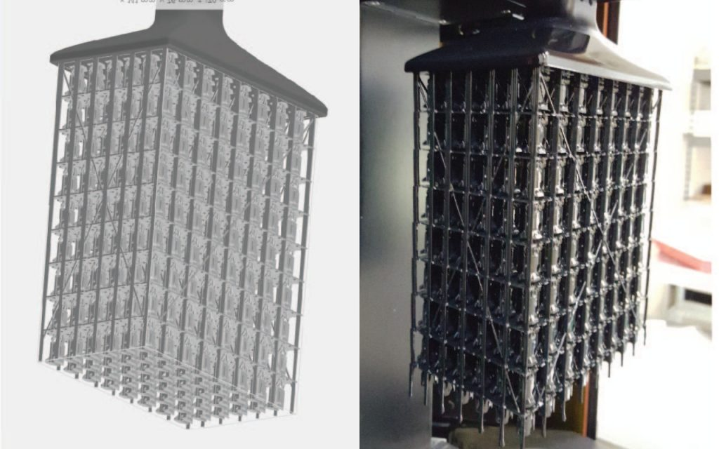 Carbon 3D print series of 10,000 parts for Oracle Labs servers - 3D