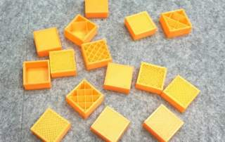Infill percent demonstration for 3D printed objects. Object and photo by 3D designer Da-eun Jun, on MyMiniFactory as Eunny