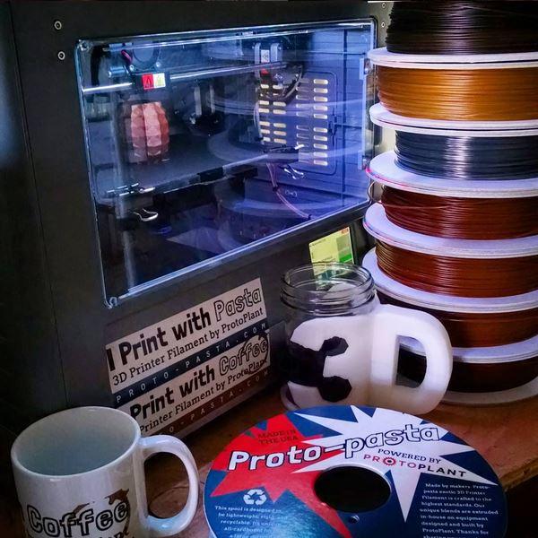 Proto-pasta spools and swag. Photo via Proto-pasta.
