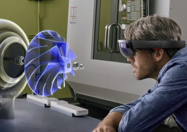 Artist's impression of augmented reality 3D part inspection on the HoloLens. Photo via Microsoft