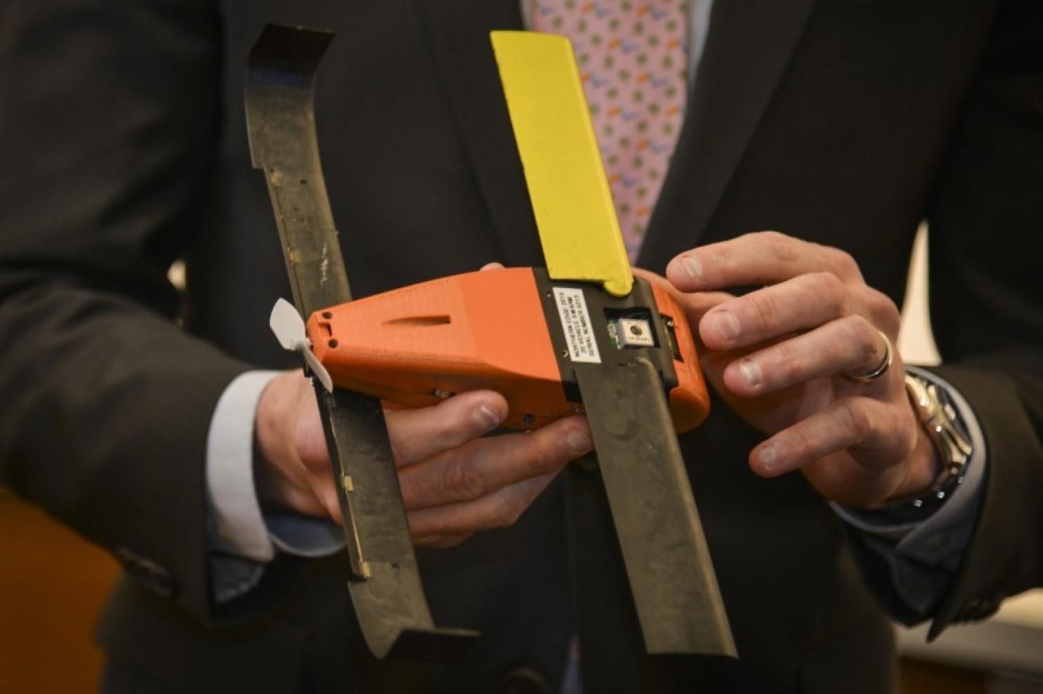Close-up of the Pedrix drone. Photo by Jahi Chikwendiu/The Washington Post