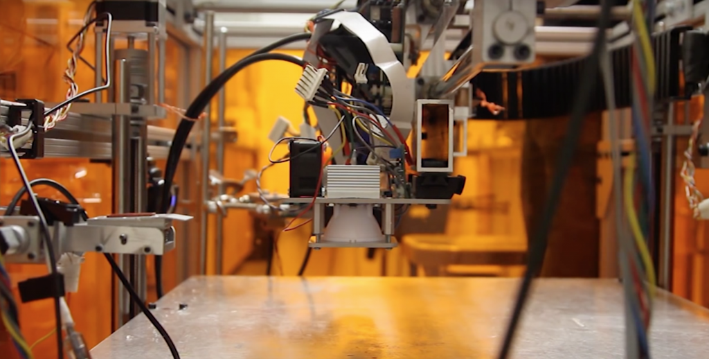 3D Printing with the Vision-Assisted Multi-Material Multi Fab from MIT CSAIL.