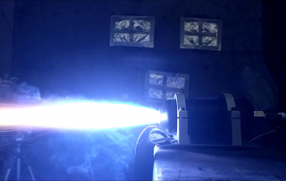 The 3D printed rocket being fired. Photo via MIT Rocket Team.