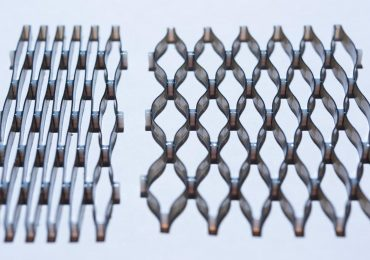 A 4D material in the process of expansion from compressed to stretched. Photo by Rob Felt/Georgia Tech