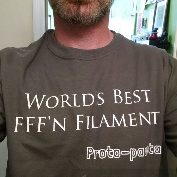 Proto-pasta have all the best t-shirts. Photo via Proto-pasta.