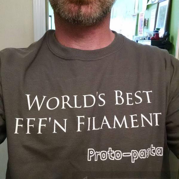 Proto-pasta have all the best t-shirts. Photo via Proto-pasta.