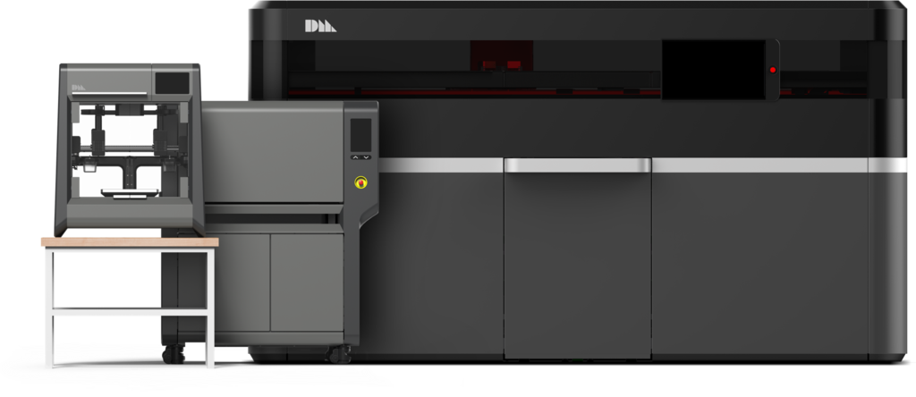 The DM Studio™ machine (left) and DM Production™ (right). Image via Desktop Metal