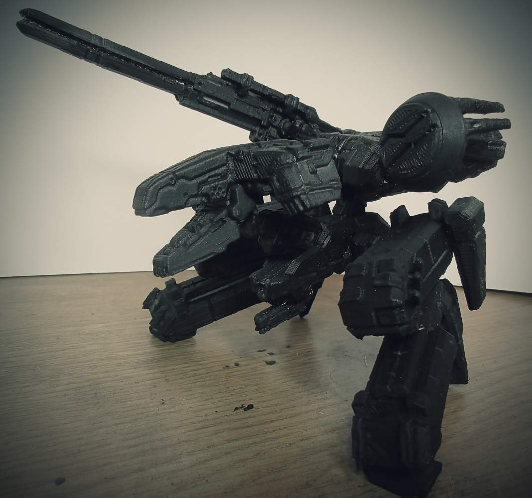 The 3D printed Metal Gear Rex. Photo via Morgan Morey on MyMiniFactory.