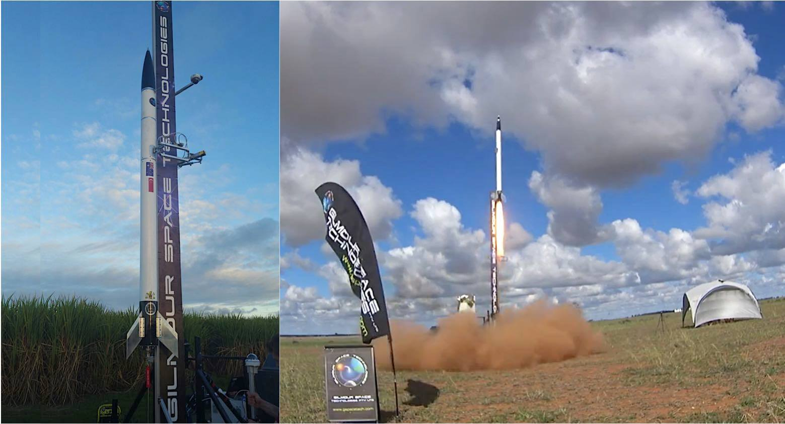 Gilmour Space Technologies first test launch of 3D printed rocket fuel in June 2016. Photo via Gilmour Space Technologies.